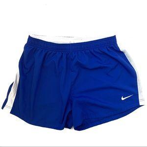 Nike Blue & White Striped Dri-fit Shorts